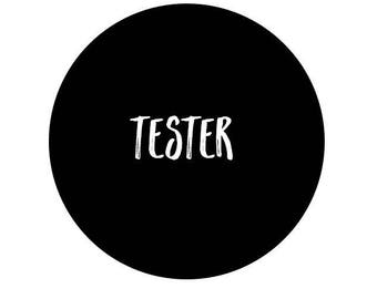 Tester Wall Sticker - Test Wall Decal | PP000