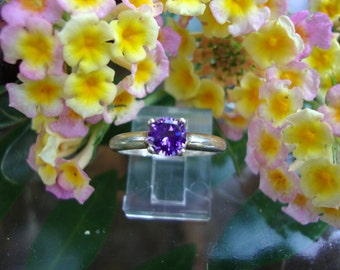 for KristinLilyWong 10 Rings - Purple Amethyst in eco friendly sterling silver from recycled sources  - Custom Made