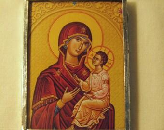 Virgin Mary & Christ Pocket Travel Icon  inv1153