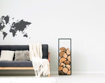Gold world map wall decal gold office decor bedroom wall world map decal removable wall decal bedroom decor gold decor wall decals office decor gumiabroncs Image collections