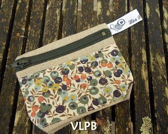 Door wallet linen and liberty Wiltshire Green