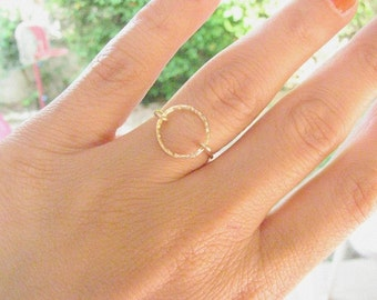 Mother Day Sale - Circle ring - Gold ring - gold circle ring - karma ring - Handmade infinity ring - eternity ring - thin delicate ring