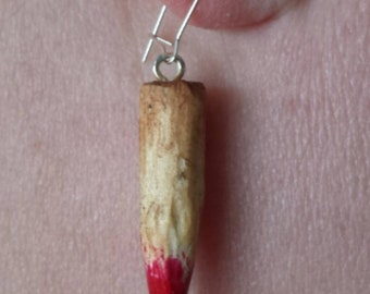 Hand carved earrings inspired by Buffy the Vampire Slayer
