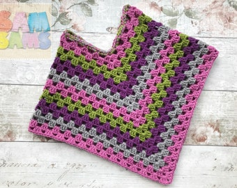 Toddler Poncho / Crochet Poncho / Pink Purple Grey Green Poncho