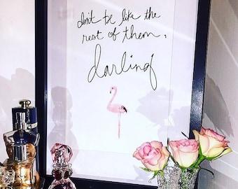 Our flamingo print