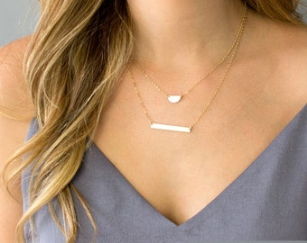 Skinny Bar Necklace, Personalized Bar Necklace, Engraved Bar Necklace, Mom Necklace, Gold, Silver, Rose Gold Name Bar Necklace, Gift for Mom
