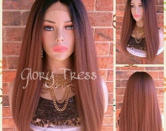 ON SALE// Kinky Straight Lace Front Wig, Natural Yaki Straight Wig, Blown Out Hairstyle, African American Wig // HOPEFUL (Free Shipping)