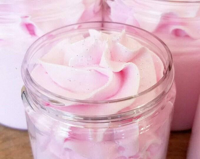 Strawberry Whipped Cream Sugar Scrub Soap