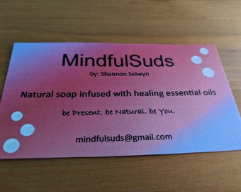 Natural soap infused with essential oils