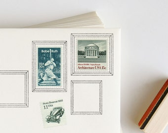 Postage Picture Frame Rubber Stamp for envelopes: Traditional