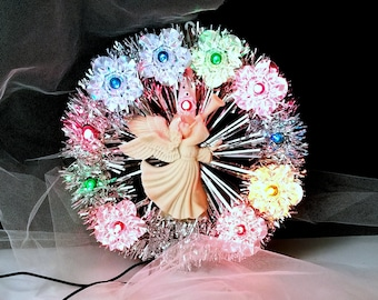 Vintage Angel Tree Topper Light - Angel Light - Vintage Tree Topper - Electrified Tree Topper -