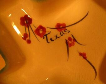 Vintage Texas Shaped Small Ceramic Souvenir