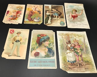 7 antique advertising fliers