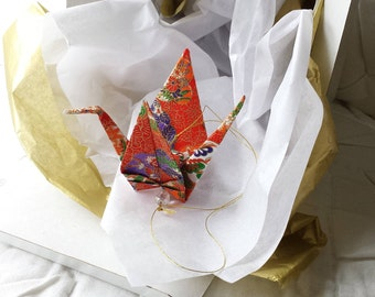Exquisite Origami Paper Crane hanging decor - Peace Crane Gift - Origami crane - Thank you - Congratulations - Anniversary - Get well -#A7HG