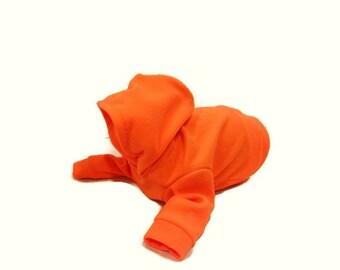 Blaze Orange Fleece Dog Hoodie-Hunting Dog Clothes-Dog Hoodies-Dog Clothes-Dog Shirt-Dog Shirts-Fleece Hoodies for Dogs-Fleece Dog Sweater