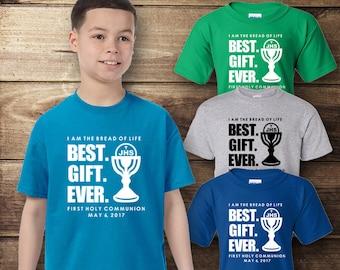 First Communion T-Shirt, First Communion Gift, Catholic Shirt, Best Gift Ever
