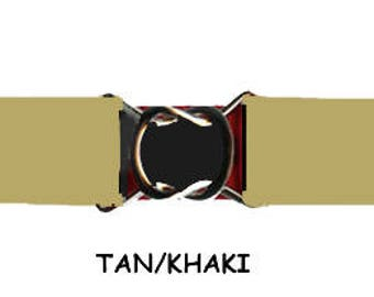 "STRETCH BELT - TAN/Khaki 1"" Elastic * 3-Sizes for Kids & Adults *  Adjustable on Both Sides"