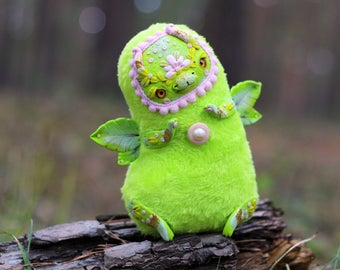 green dragon art toy fantasy creature dragon sculpture polymer clay collectible dragon doll little dragon cute toy