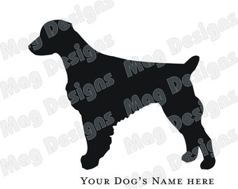 Brittany Spaniel Vinyl Dog Decal Silhouette on Etsy or you pick the color