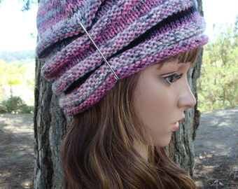 DIY - Knitting PATTERN #36: Womens Beehive Knit hat pattern, Fun and Sassy beehive hat pattern, Size Teen/Adult, PDF Digital Pattern