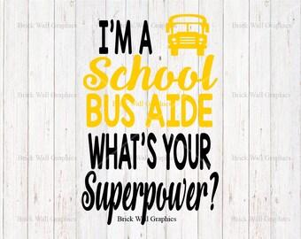 Bus Driver svg, School Bus aide svg, cut files for cricut, svg, dxf, school bus svg, bus driver appreciation