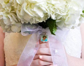 Photo Bouquet Memoria Charm with Rounded Corners