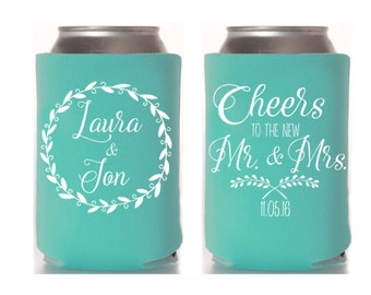 Wedding-Party Goods Favors Can Coolers Cups by MailboxHappiness