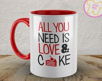 Coffee and Cake Mug, Gift for Baker, cake lover gift,  cake mug, baker gift, cakes mug, sweet lover gift,