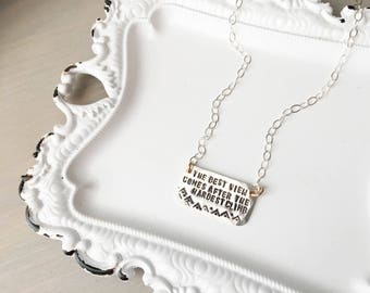 I choose joy silver necklace best view silver necklace hardest climb journey necklace sterling silver handstamp gifts with meaning mozeypictures Gallery