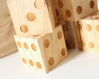 Wood Dice Set | Wedding Games | Game Dice Set | Engraved Wood Dice