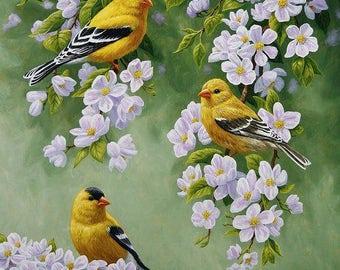 Jasmine Cross Stitch Pattern-Spring Landscape-Printable Flowering Jasmine-Printable Embroidery Pattern-Digital Embroidery-PDF File