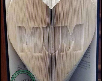 Custom Name - Title - Heart Combi Cut & Fold Bookfolding Pattern