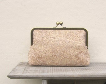 Gold lace clutch, lace bridal clutch, gold clutch, gold wedding clutch, gold purse, gold bridesmaid clutch, bridesmaid gift, constance