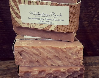 Sandalwood and Patchouli soap bar