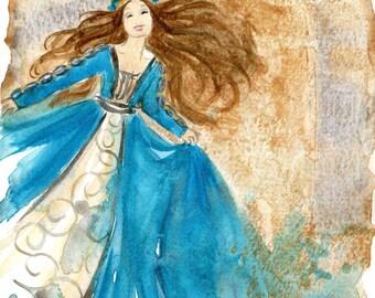 Bliss - princess watercolour