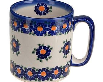 BCV Polish Pottery Hand Painted Ceramic Mug 400 ml, Large 055-U-018
