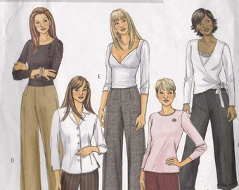 Butterick 4662 CLEARANCE Vintage Pattern Womens Pants in 5 Variations Size 8,10,12,14