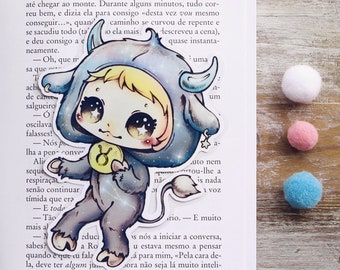 Zodiac - Taurus - bookmark - made to order