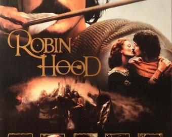 "Robin Hood. 1991 Original U.S. 25.5"" x 38"" Video Poster. Patrick Bergin (Robin Hood),Uma Thurman ( Maid Marian), Owen Teale (Will Scarlet)"