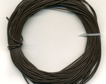 Brown Leather Cord 1.8 mm  25 meters Hank