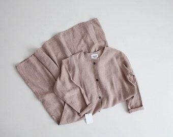 pale mauve linen dress | Flax dress | oversized linen market dress