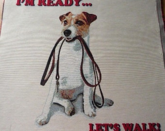 "Panel weaving way tapestry jacquard ""I am willing to walk"""