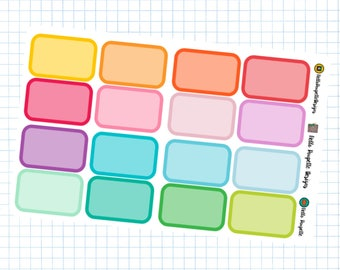 Half Boxes - Planner Stickers - Basics Collection