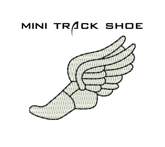 Track Shoe Mini Embroidery Design Track And Field Embroidery