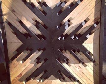 Wall Panel Art Geometric Snowflake