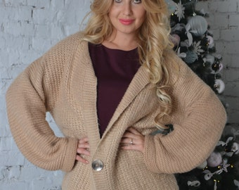 Handmade Sweater, Chunky Knit Jumper, Baggy Jumper, Chunky Knit Sweater, Fall Sweater, Knitted Jumper, Knitted Sweater, beige Knit Sweater