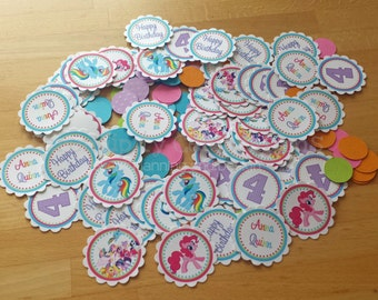 Personalized Table Confetti, My Lil Pony Inspired Confetti -Table Minis -Pony Party -My Lil Pony Birthday -1st Birthday
