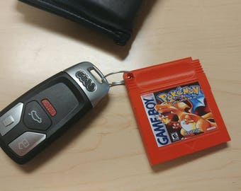 Pokemon   Pokemon Red   Gameboy   Pokemon Cartridge   Pokemon Key Chain   3D Printed   8Bit   Gift for Her   Gift For him   Nintendo  