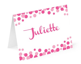 Polka Dot Personalized Note cards with matching address labels