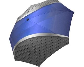 Blue Umbrella Grey Umbrella Designed Umbrella Metallic Pattern Umbrella Art Umbrella Photo Umbrella Automatic Foldable Umbrella